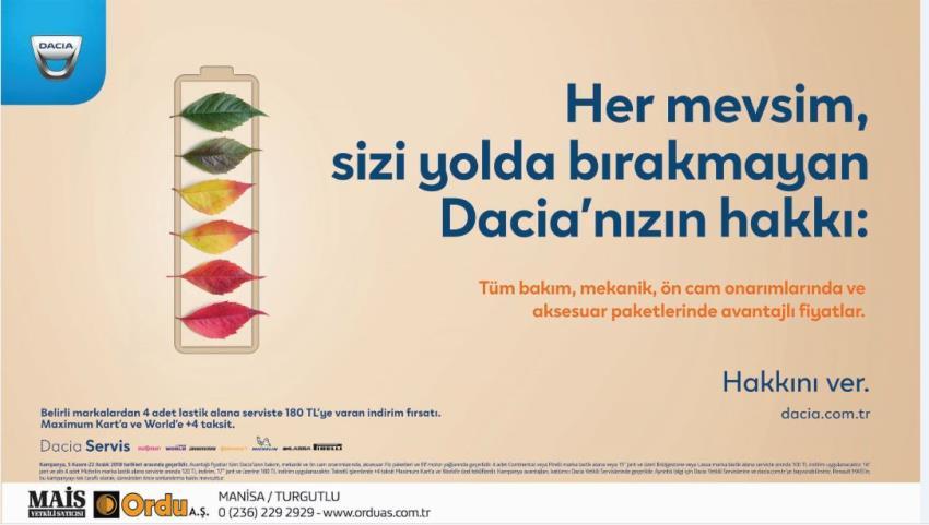 Servis Dacia Kış Kampanyası