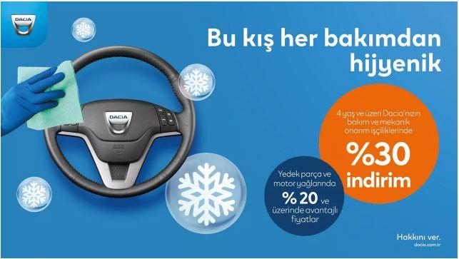 4 yaş üstü Dacia'nızın hakkını veren kış servis kampanyası
