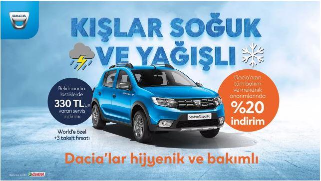 Dacia'nızın hakkını veren kış servis kampanyası