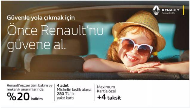 Renault'unuzun tüm bakım ve mekanik onarımlarında %20 indirim