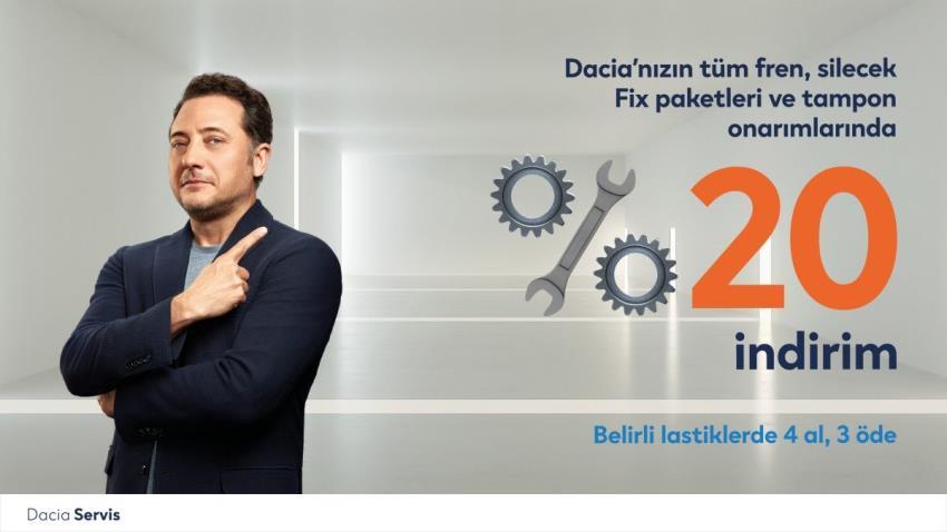 Dacia'nızın tüm fren, silecek fix paketleri ve tampon onarımlarında %20 indirim