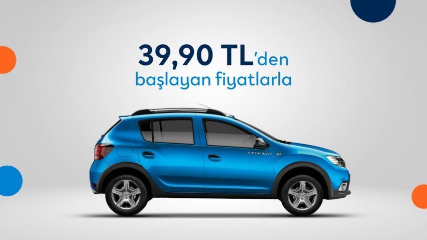 Günlük 39,90 TL'den başlayan fiyatlarla Dacia SANDERO