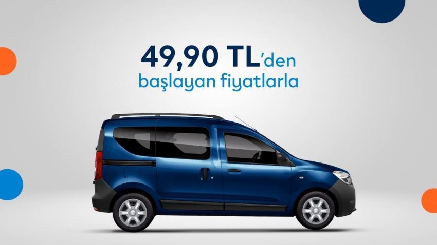 Günlük 49,90 TL'den başlayan fiyatlarla Dacia DOKKER