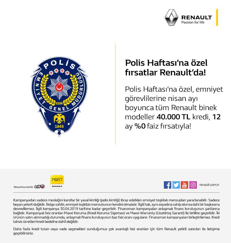 Polis haftasına özel kampanya