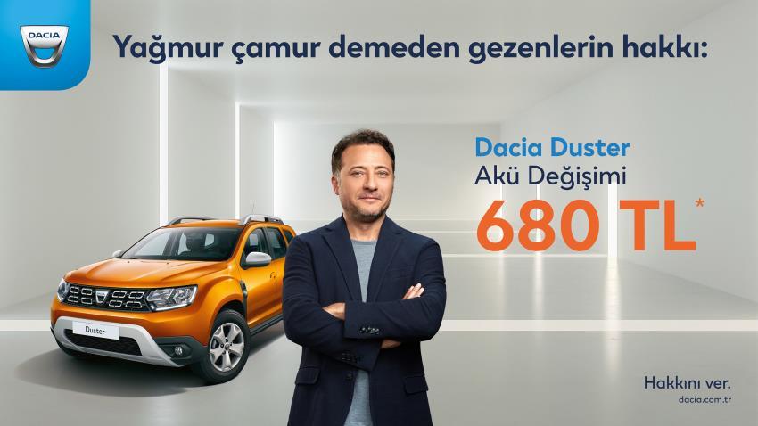 Dacia Duster Akü Değişimi 680 TL*